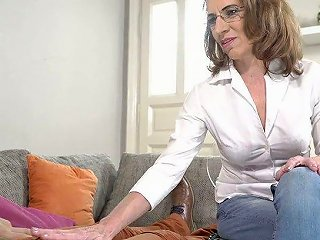 Naughty Mature Woman Viol Knows How To Make Her Young Lover Cum Several Times