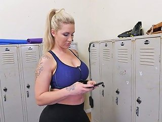 Young Dude Fucks Mega Busty Tattooed MILF Ryan Conner In The Locker Room
