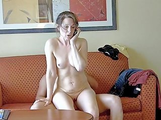 Mom Sits On Ken's Lap While Talking On The Phone Porn 28